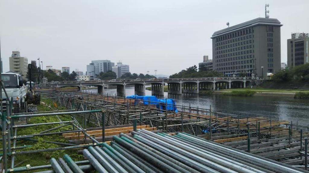 岡崎の大花火桟敷