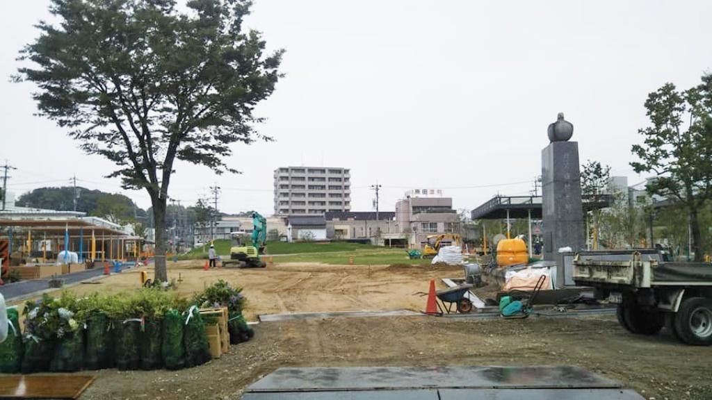 籠田公園工事